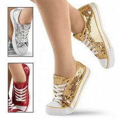 gold sequin converse