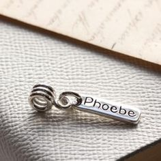 Personalised Little Tag on a Charm Carrier