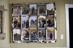 repurposed items for home decor | Upcycled window collage frame