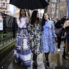 It may have been raining in London, but we had Haim covered for London Fashion Week