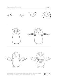 Nie zdziwiłoby mnie, gdyby pytanie –jak narysować sowę? – spędzało Wam sen z powiek. Sowa to najbardziej popularny z motywów dziecięcego wzornictwa.