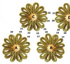 Flower Looms: Simple Crochet Edging & Join #2