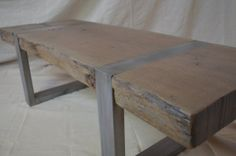 Live Edge Coffee Table or Bench Ready to by MetalTreeFurniture, $699.00