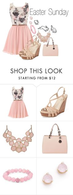 """Easter Sunday"" by crystal-crest on Polyvore featuring Seychelles, MICHAEL Michael Kors, Palm Beach Jewelry and Kate Spade"