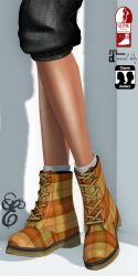 19 - Entice - Rebel boots - Orange Plaid Poster