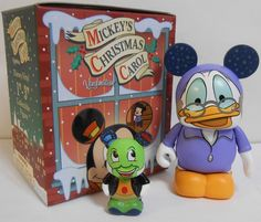 "Mickey's Christmas Carol CHASER Ebenezer Scrooge McDuck with Jiminy Cricket Disney Vinylmation 3'' & 1"" (Jr) Figure Cute"