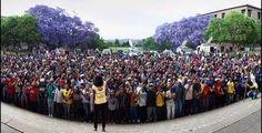 Imágenes manifestaciones estudiantiles en las universidades de Sudáfrica.- El Muni.