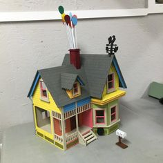 ***PLEASE READ EVERYTHING BEFORE PURCHASING***  Description: This 3D wooden dollhouse is based on the Disney Pixar movie UP that came out in 2009.