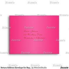 Return Address Envelope for Reply Card