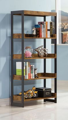 """This bookcase mimics the look you liked and is only 25.5"""" wide, BUT out of stock currently (est August in-stock) - might be worth calling them? Estrella Antique Nutmeg Metal Bookcase"""