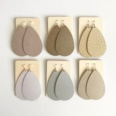 Leather earrings and cuffs are the perfect light weight statement earrings and accessories. I am obsessed with Nickel and Suede.