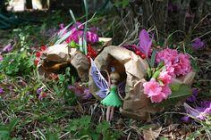 Paper-bag bug/fairy houses