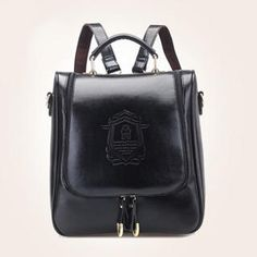 BeiBaoBao - Embossed Faux-Leather Backpack