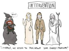 """you have too many gandalf you need to let them go"" By Cailey, or Jedees on Tumblr."