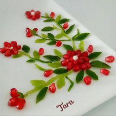 Food Art, Food Food, Vegetable Decoration, Appetizer Recipes, Appetizers, Iran Food, Food Sculpture, Fruit And Vegetable Carving, Food Design