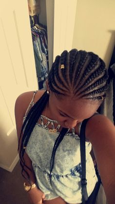 Protective Style Ghana Braids  #braids #protectivehairstyles my first pin of myself @Najha