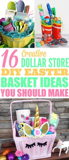 50 easter basket stuffers that you will love as much as your kids 16 diy easter basket ideas that will have you hoppin negle Choice Image
