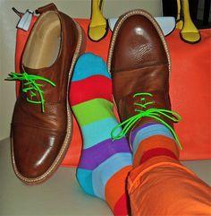 Boemos shoes, Black  Brown socks, leather bag...