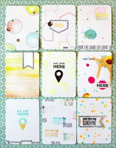 handmade Project Life cards by Gossamer Blue