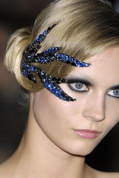 Blue crystal hair accessory