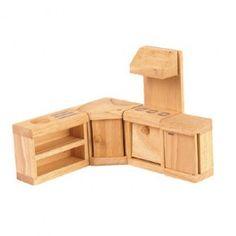 $19.95 Plan Toys Wooden Dollhouse Furniture - Classic Kitchen