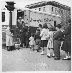 An early 1950s shot of the first Brooklyn (N.Y.) Public Library bookmobile.