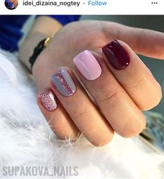 Nail art Christmas - the festive spirit on the nails. Over 70 creative ideas and tutorials - My Nails Get Nails, Fancy Nails, Love Nails, Trendy Nails, Pink Nails, Shellac Nails, Acrylic Nails, Nail Polish, Nail Nail