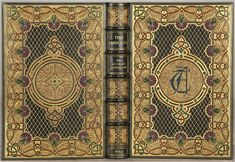 TENNYSON, Alfred. The Princess: A Medley. London: Edward Moxon and Co., 1860. Later jeweled binding by Sangorski & Sutcliffe. -BOOKTRYST: Magnificent Bindings, Bound To Be Great