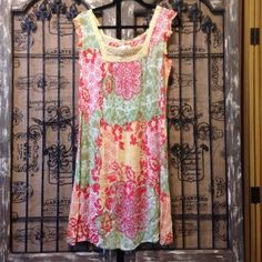 Forbidden Cute Colorful Boho Peasant Rayon Sundress New With Tags Size Large #Forbidden #Sundress #SummerBeach