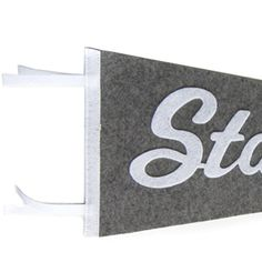 Felt Pennant - Stay True. Great motto for a wall.