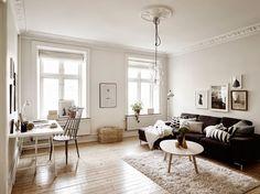 Inspiración Deco: blanco, negro y una decoración 100% nórdica