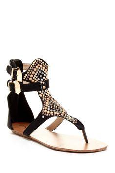 Tali Studded Short Thong Gladiator Sandal