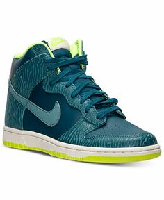 Nike Women's Dunk Hi Skinny Print Casual Sneakers from Finish Line - Kids Finish Line Athletic Shoes - Macy's