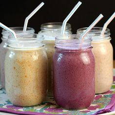 Oatmeal breakfast smoothies