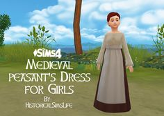 TS4: Medieval Peasant's Dress for Girls