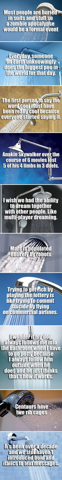 10 interesting (and pointless) shower thoughts
