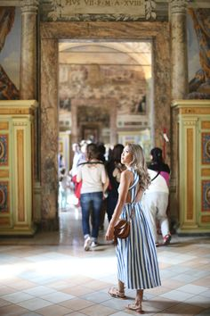 Beyond Basic Blog When In Rome Vatican Museum Zara Stripe Denim Dress