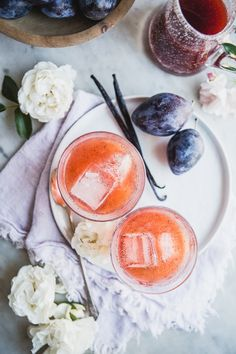 Vanilla Plum Shrub