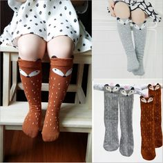 fb2546f883c Newborn Toddler knee high sock Baby Boy bebe Girl fox Socks anti-slip  cotton Cartoon Animal Cat leg warmers For newborns infant
