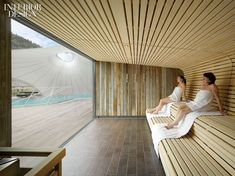 A Spot in the Shade: Germany's Palais Thermal Spa and Sauna – Decor is art Sauna Steam Room, Sauna Room, Spa Design, Saunas, Pool Spa, Sauna Wellness, Sauna Seca, Spa Sauna, Outdoor Sauna