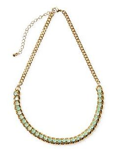 Pim + Larkin Jeweled Woven Chain Necklace   Piperlime