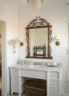 Perfect vanity to convert into a sink. Drawers on either side and enough space in between for a sink & plumbing.