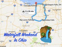 We have the perfect northeast Ohio weekend itinerary for you, complete with hidden waterfalls, a restaurant right over some falls and a waterfall inn.