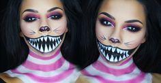 Cheshire Cat halloween makeup tutorial