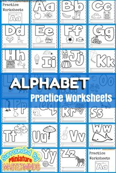 Basic Concept Alphabet Practice Worksheets Free Printables Here is another installment in the Preschool basic book. This books is all about ABCs. Each page has the upper and lower case letters, images, places to practice writing the upper and lower case letters. This book is printer friendly and...