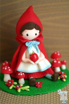 *SORRY, no information as to product used ~ little red riding hood cake - Buscar con Google