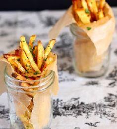 Garlic Cilantro Fries - Super Bowl Food and Snacks #rachmariepr