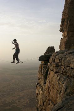 I kept my balance walking on a log today...this seems like the logical next step... ;-)