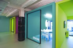 What's Up English Academy in Barcelona, Spain was designed by Isabel Lopez Vilalta + Asociados