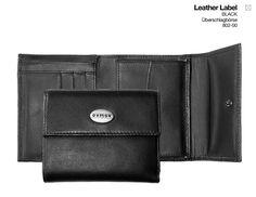 oxmox Leather Überschlagbörse Black